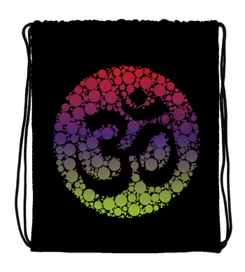 Drawstring Gym Bag SACRED OM MANTRA | COLORFUL ARTWORK