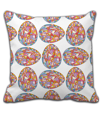Throw Pillow Easter eggs