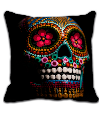 Throw Pillow Skull colors