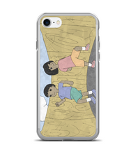 cartoon play girl adventure cover illustration drawing draw color colored boy kid child Phone Case