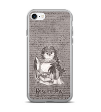 Rowlena Rowlenclaw - magic OWL in crown and robe with books Phone Case
