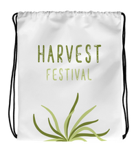 Drawstring Gym Bag Harvest Festival Green