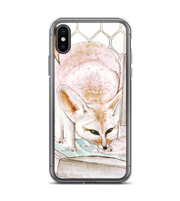 Phone Case - Cute Fennec Fox chilling out - original watercolor ink art Phone Case