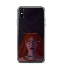 Phone case red hair purple eyes woman darkness Phone Case