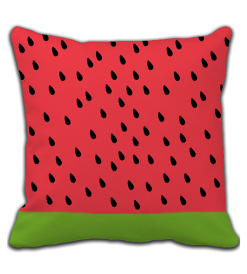 Throw Pillow Watermelon Print Green and Pink