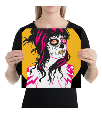 Canvas Mexican Skull Girl