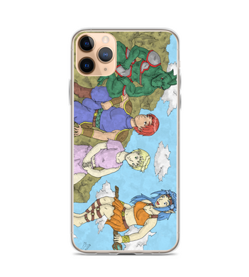 manga comic cover page rpg illustration drawing color colored fanart warrior boy girl Phone Case