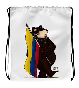 Drawstring Gym Bag COLOMBIAN BEAR