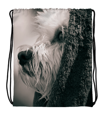Drawstring Gym Bag Thoughtful dog
