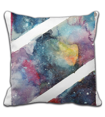 Throw Pillow galaxy in water