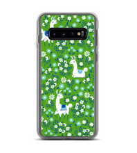 Llama Green Flowers Phone Case