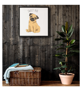 Framed Poster Of Dog