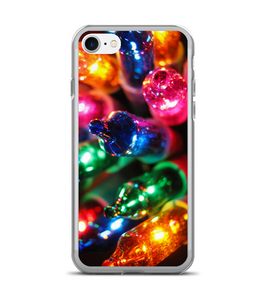 Traditional Christmas Light Strand Aglow Phone Case