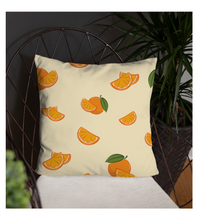 Throw Pillow orange fruit pattern