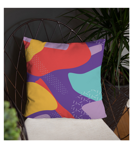 Throw Pillow Abstract pattern seamless colorful cheerful red yellow purple