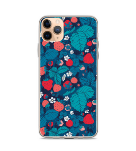 Strawberry Raspberry Patch Print Phone Case
