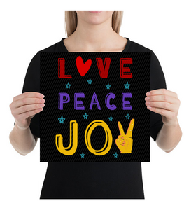 Canvas Love, peace and joy