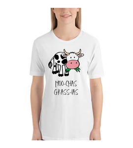 T-Shirt  Moo Chas Grass-ias Muchas Gracias Customizable Personalized Gift For Her Gift For Him