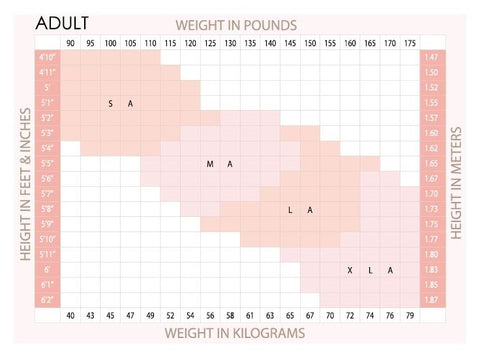 NeauxLa Dancewear Adult Tight Size Chart
