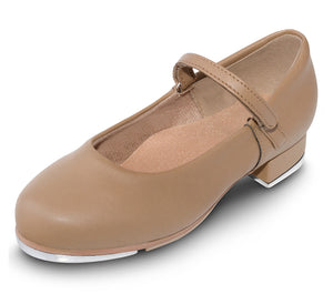 Dance Tap Shoes Mary Jane with Velcro Strap in Tan