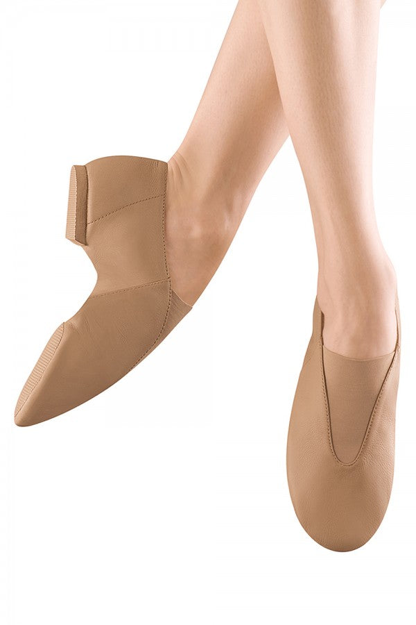 Bloch S0401 Girls and Ladies Super Jazz - bloch tan jazz shoes and black jazz shoes.