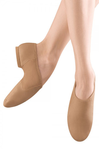 Bloch S0495 Girls and Ladies NeoFlex Slip on Jazz Shoes in Bloch Tan or Black