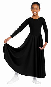 Liturgical Praise Dance Dress for Girls, Ladies and Plus