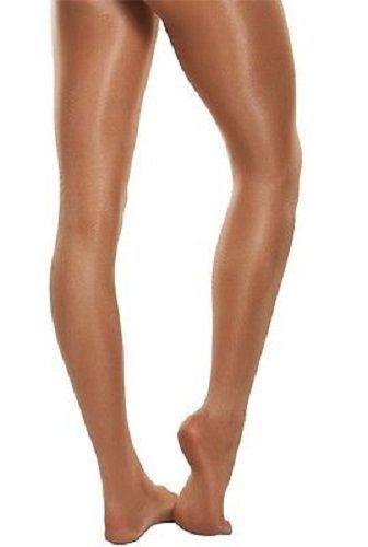 Adult Bodywrappers Ultra Shimmer Toast Footed Tights