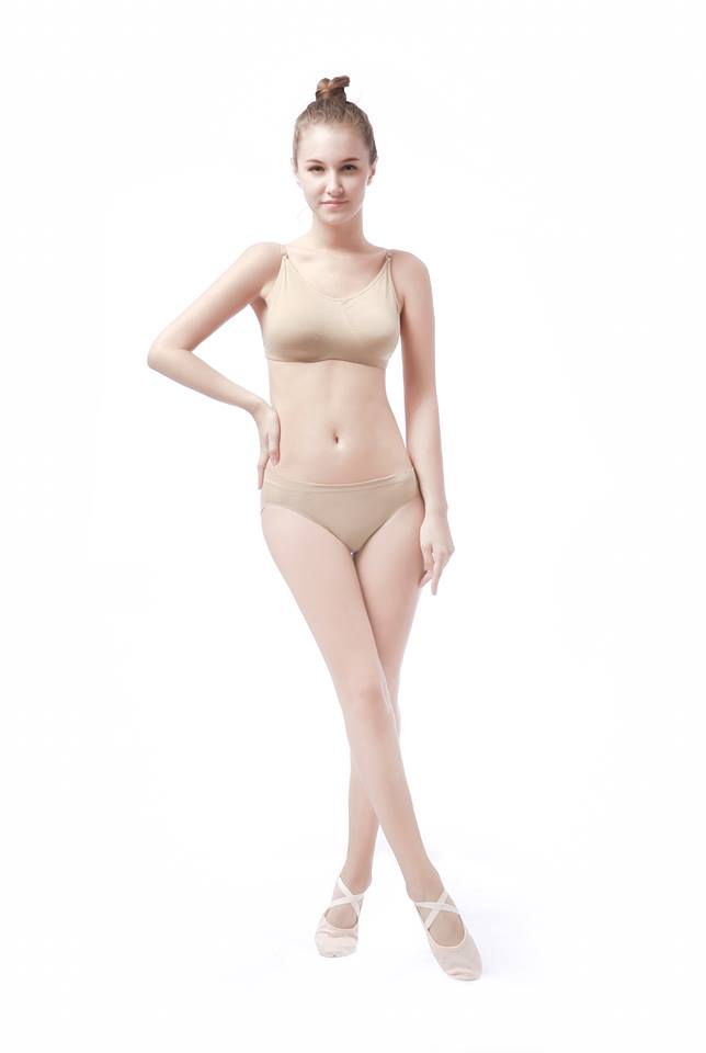 The Mahalia by NeauxLa Dancewear Nude Dance Bra with clear back strap