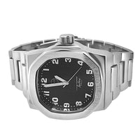 Silver Brushed Modern Fashion Watch Black Dial