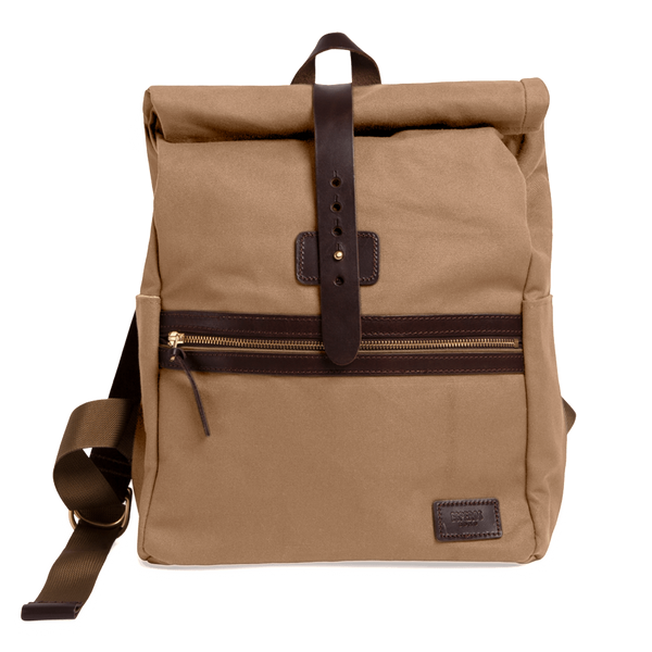Khaki Rolltop Backpack