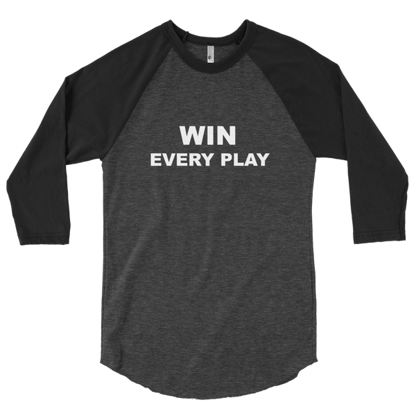 Win Every Play 3/4 sleeve raglan shirt