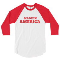 Made in America 3/4 sleeve raglan shirt