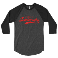 Vintage Photography 3/4 sleeve raglan shirt