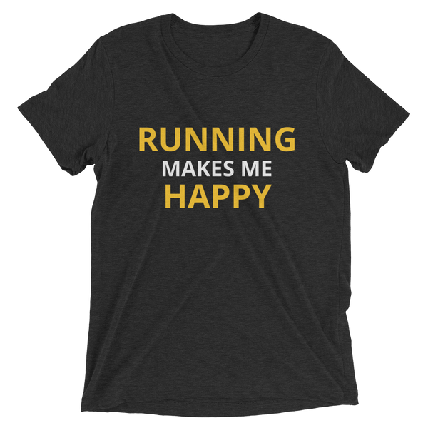 Running Makes Me Happy Unisex T-Shirt