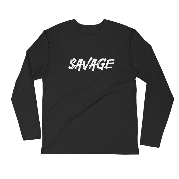 Savage Long Sleeve Fitted Crew