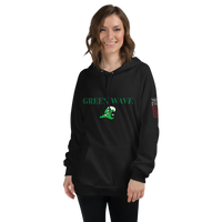 Green Wave Unisex Fleece Hoodie