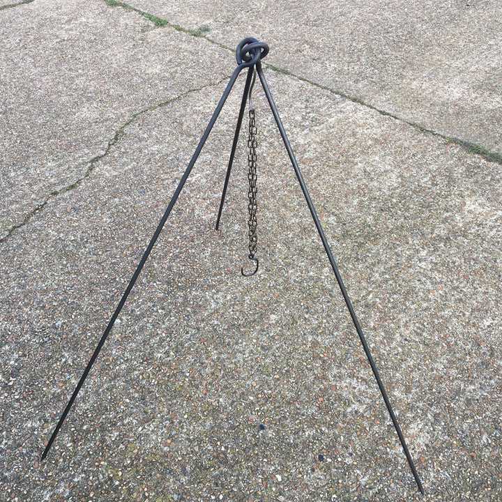 Large campfire cooking tripod