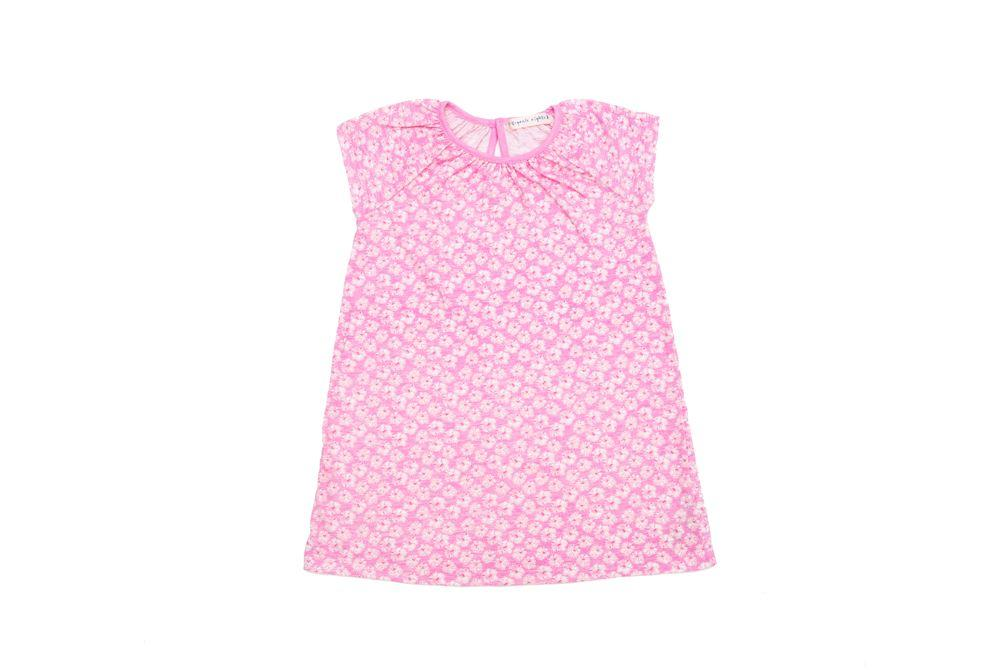 GOTS-Certified Organic Cotton Girls Nightie - Coral in Pink