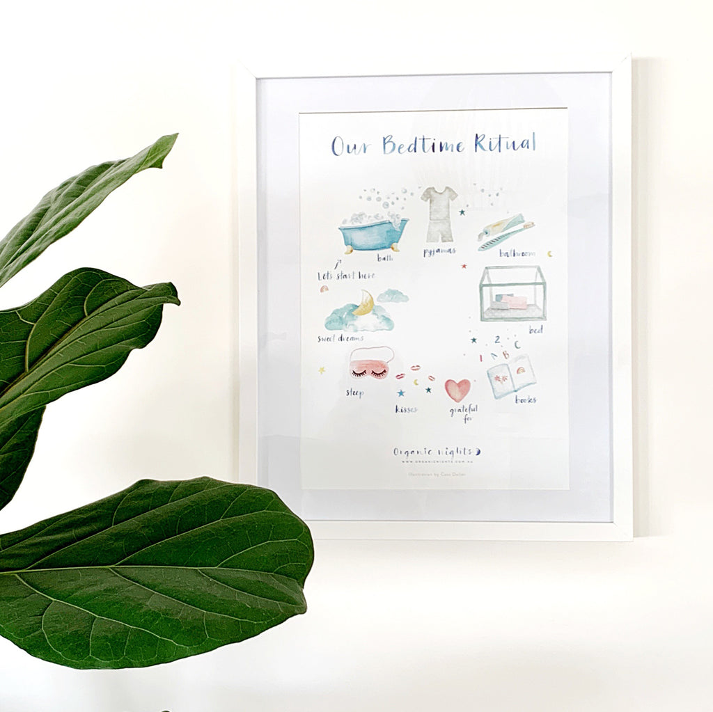 Our Bedtime Ritual A3 Art Print on quality textured white stock