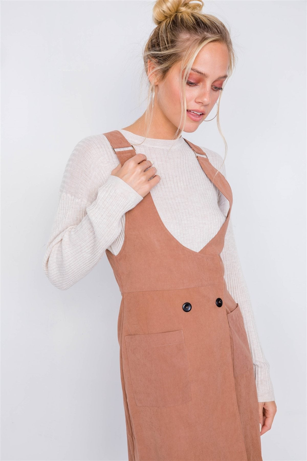The Luna | Suede Mini Dress