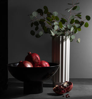 Black Wood Centerpiece Bowl