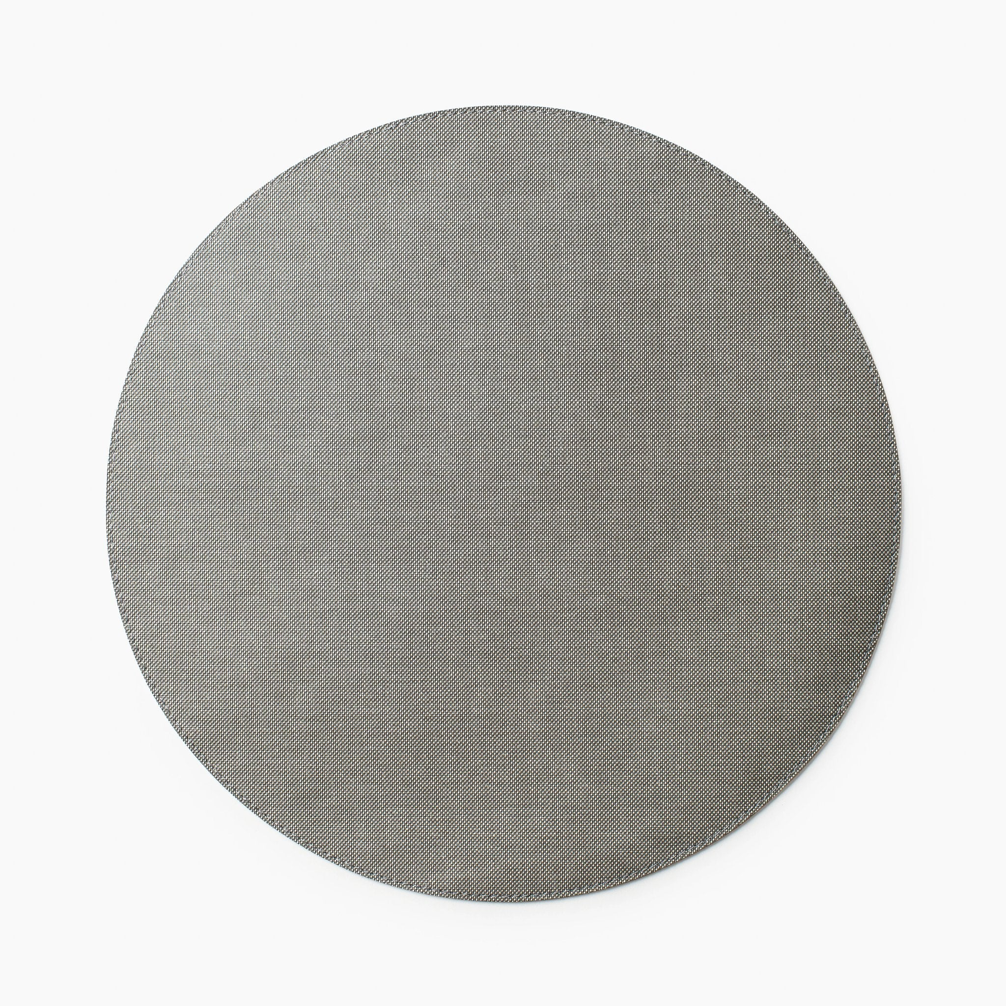 Gem Silver Round Placemat S/6