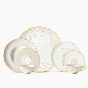 Gold Swirl Dinnerware Set