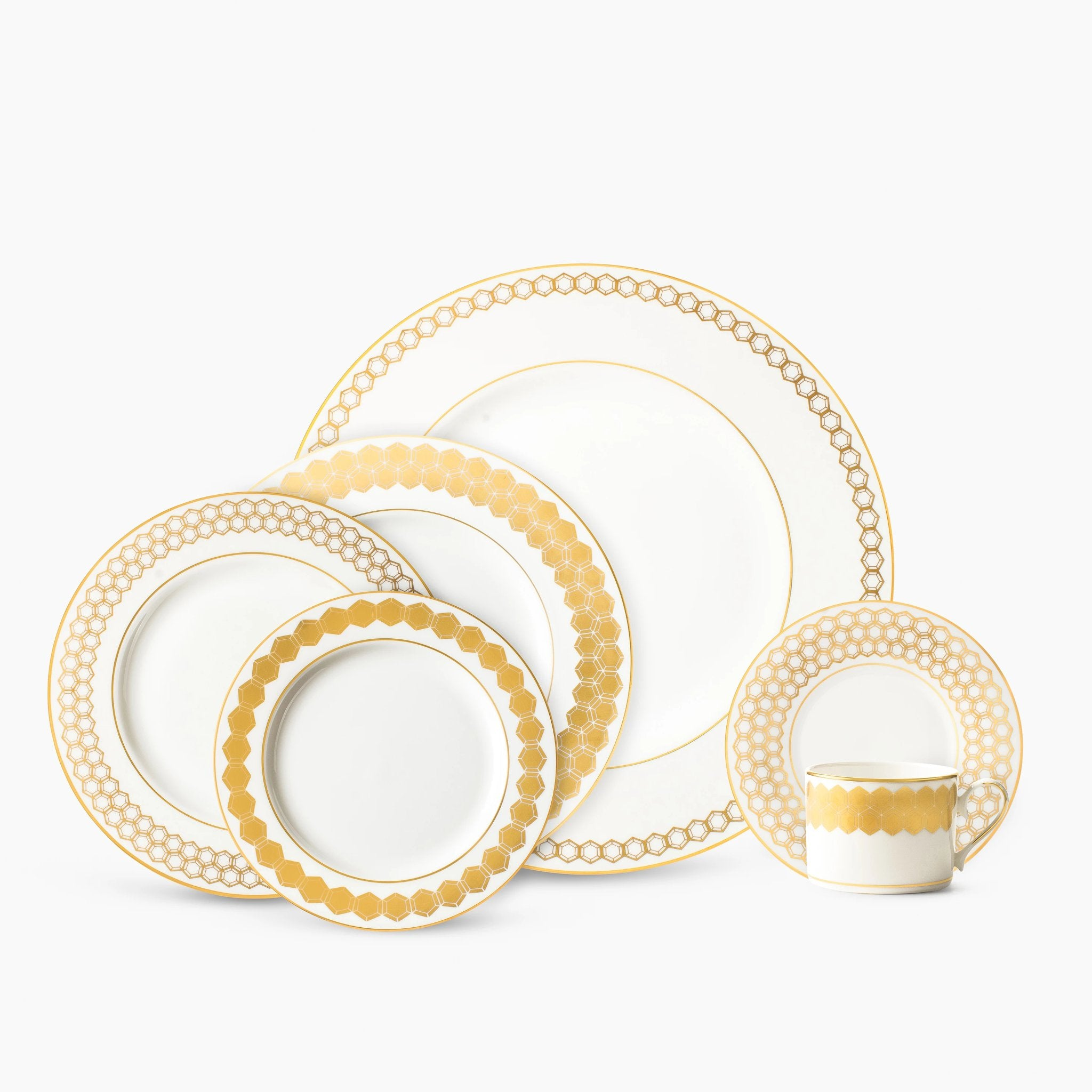 Lenox Prismatic Gold 5pc Place Setting