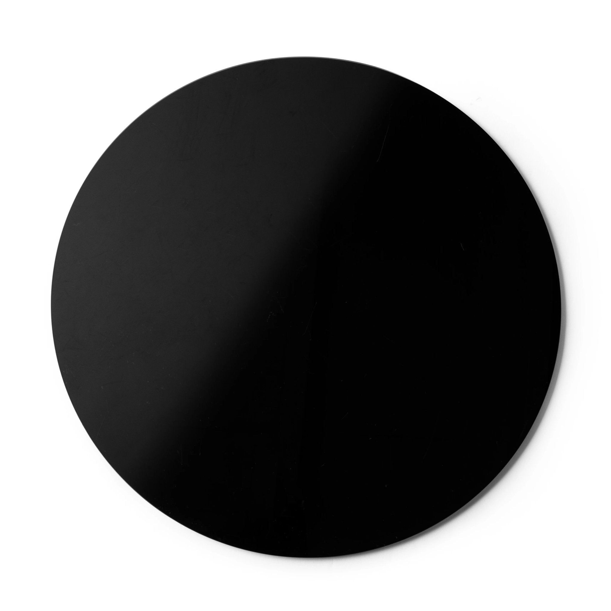 Black Acrylic Round Charger S/6