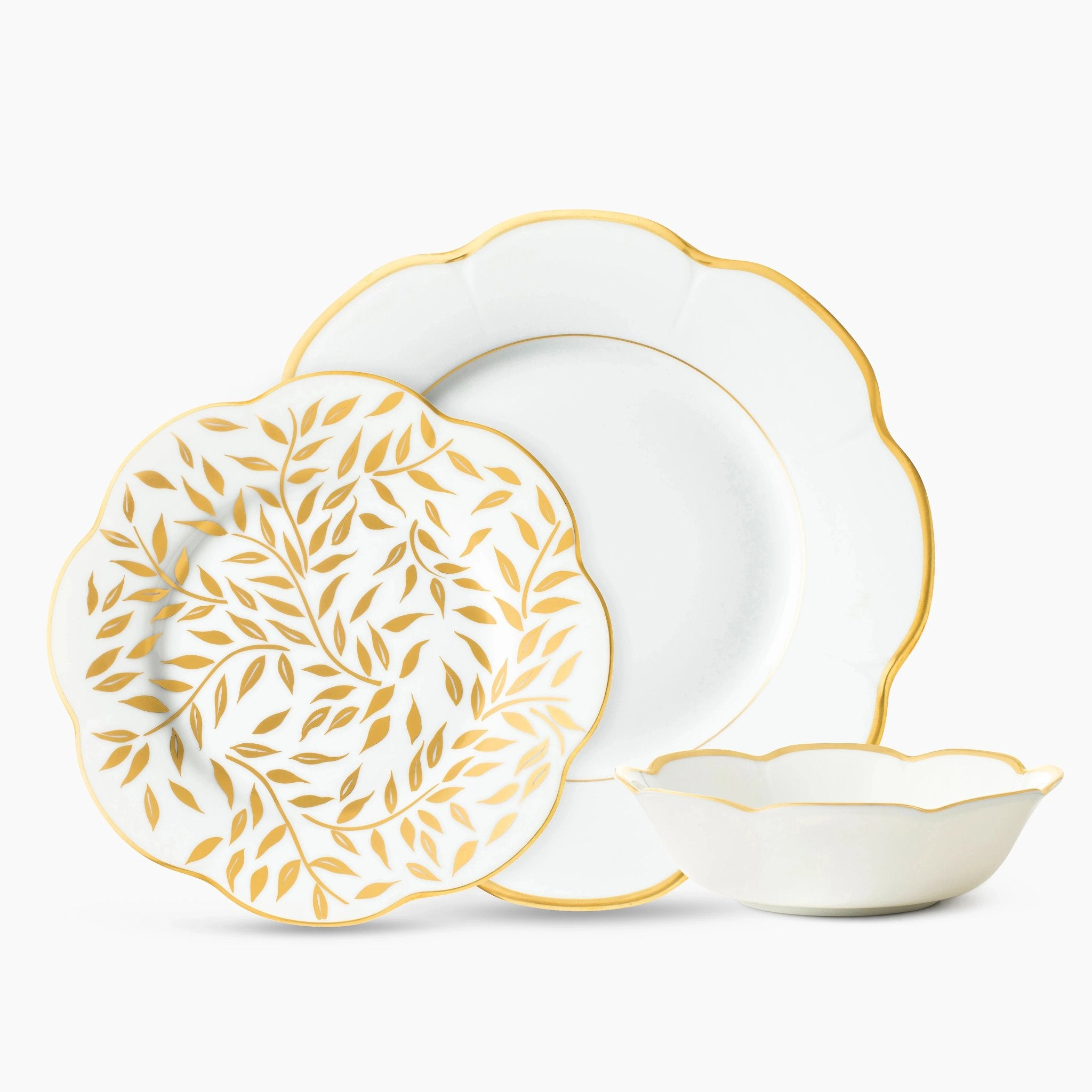 Abstract Leaf Dinnerware Set