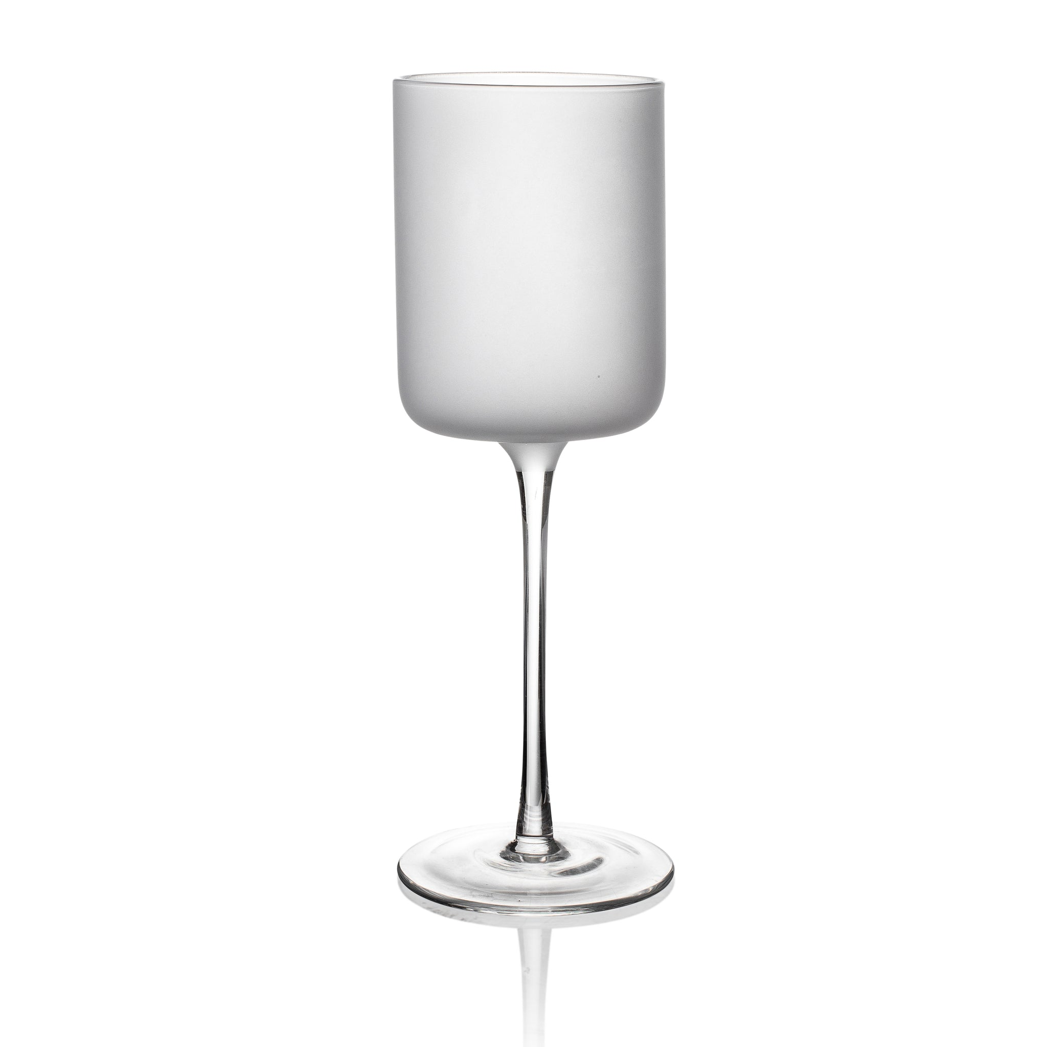 Frosted White Stemware Large S/4