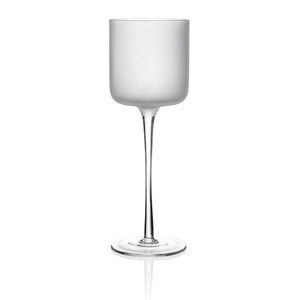Frosted White Stemware Small S/4