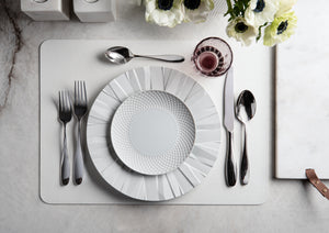 White Faux Leather Placemat